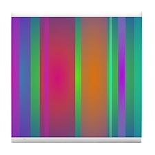 Tranquility Stripes Tile Coaster