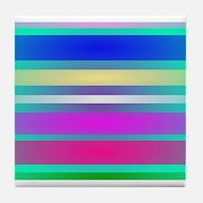 Eyes Stripes Tile Coaster