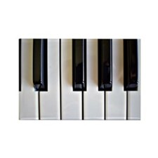Piano Keys - black and white Rectangle Magnet