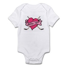 Hockey Valentine for Mom Infant Bodysuit