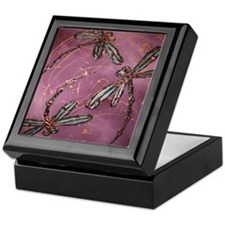 Dragonfly Flit Dusky Rose Keepsake Box