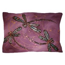 Dragonfly Flit Dusky Rose Pillow Case