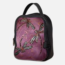 Dragonfly Flit Dusky Rose Neoprene Lunch Bag