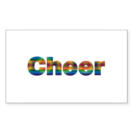 Cheer (Tie-Dyed) Rectangle Sticker