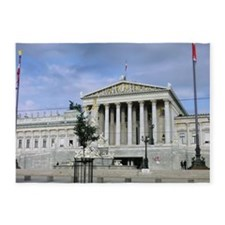 Viennese parliament 5'x7'Area Rug