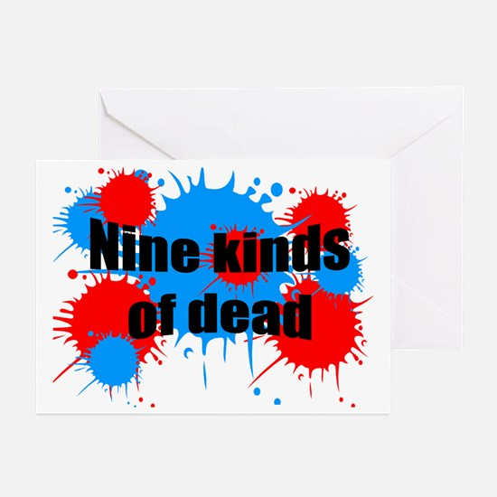 Unique Paint ball Greeting Cards (Pk of 10)
