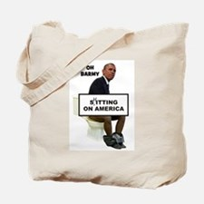 Oh Barmy Sitting On America Tote Bag