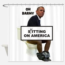 Oh Barmy Sitting On America Shower Curtain
