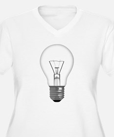 Light Bulb Plus Size T-Shirt