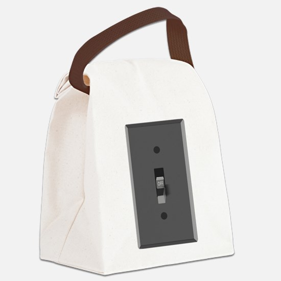 Light Switch Off Canvas Lunch Bag