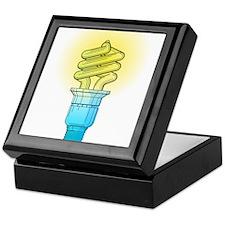 Fluorescent Light Bulb Keepsake Box