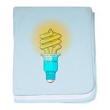 Fluorescent Light Bulb baby blanket