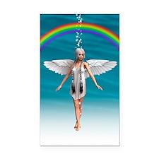 Angel under the Rainbow Rectangle Car Magnet