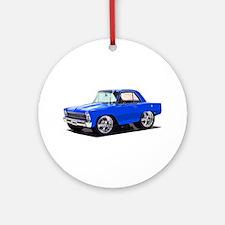 BabyAmericanMuscleCar_66_Nov_Blue Ornament (Round)