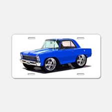 BabyAmericanMuscleCar_66_Nov_Blue Aluminum License