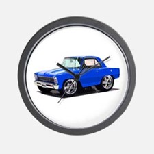 BabyAmericanMuscleCar_66_Nov_Blue Wall Clock