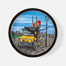 Retro Steam Cab-Taxi Wall Clock