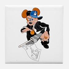 Gangster Rat Tile Coaster