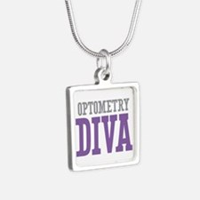 Optometry DIVA Silver Square Necklace