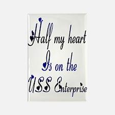 half my uss enterprise Rectangle Magnet
