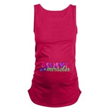 Believe in Miracles Maternity Tank Top