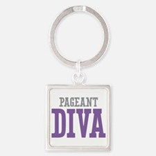 Pageant DIVA Square Keychain