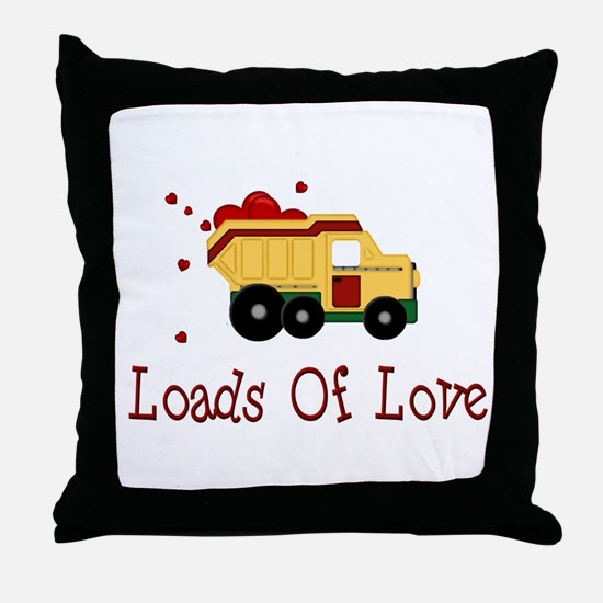 Dump Truck Throw Pillow