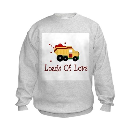 Dump Truck Kids Sweatshirt