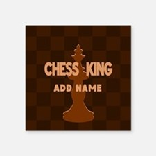 "King of Chess Square Sticker 3"" x 3"""