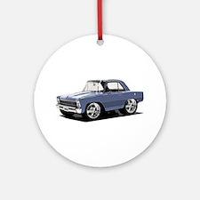 BabyAmericanMuscleCar_66NovA_grey Ornament (Round)