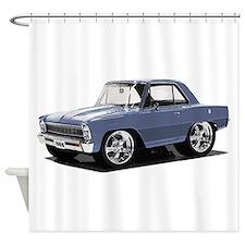 BabyAmericanMuscleCar_66NovA_grey Shower Curtain