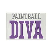 Paintball DIVA Rectangle Magnet (10 pack)