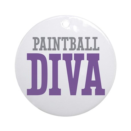 Paintball DIVA Ornament (Round)