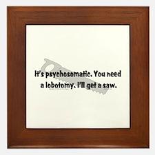 Psycho/Lobotomy. Framed Tile