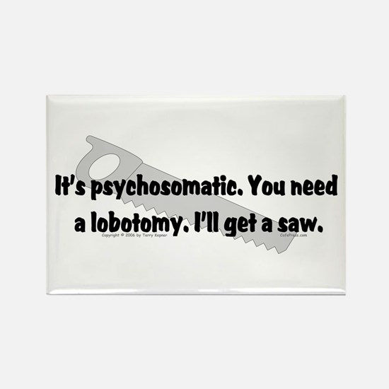 Psycho/Lobotomy. Rectangle Magnet