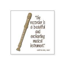 The recorder Sticker