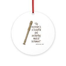 The recorder Ornament (Round)