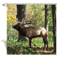 Elk bellowing Shower Curtain