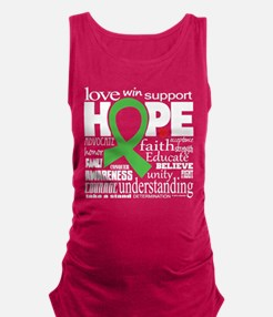 Muscular Dystrophy Words Maternity Tank Top