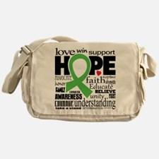 Muscular Dystrophy Words Messenger Bag