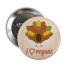 "I Heart Vegans Turkey 2.25"" Button"
