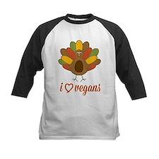 I Heart Vegans Turkey Baseball Jersey