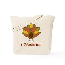 Turkey Loves Vegetarians Tote Bag