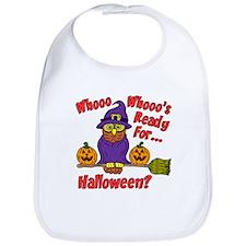 Owl Halloween Who Bib