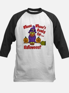 Owl Halloween Who Baseball Jersey