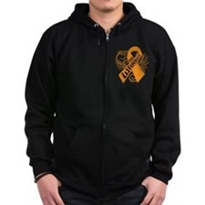 Multiple Sclerosis Warrior Zip Hoodie