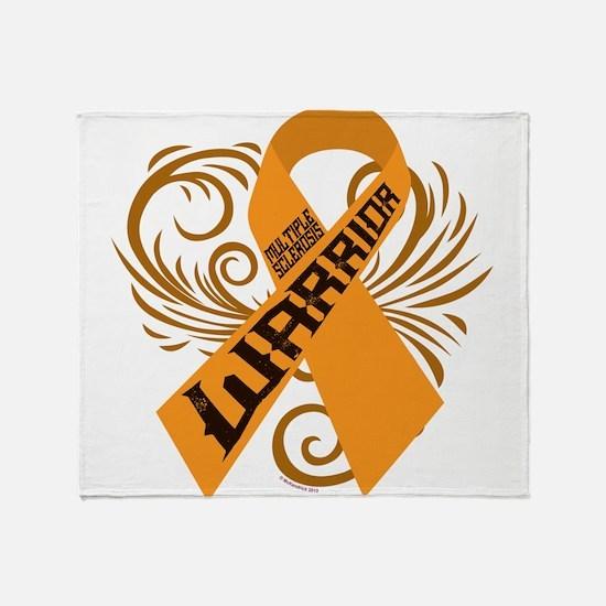 Multiple Sclerosis Warrior Throw Blanket