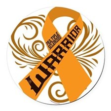 Multiple Sclerosis Warrior Round Car Magnet