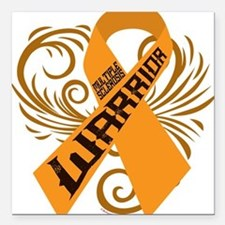 "Multiple Sclerosis Warrior Square Car Magnet 3"" x"