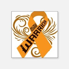 "Multiple Sclerosis Warrior Square Sticker 3"" x 3"""